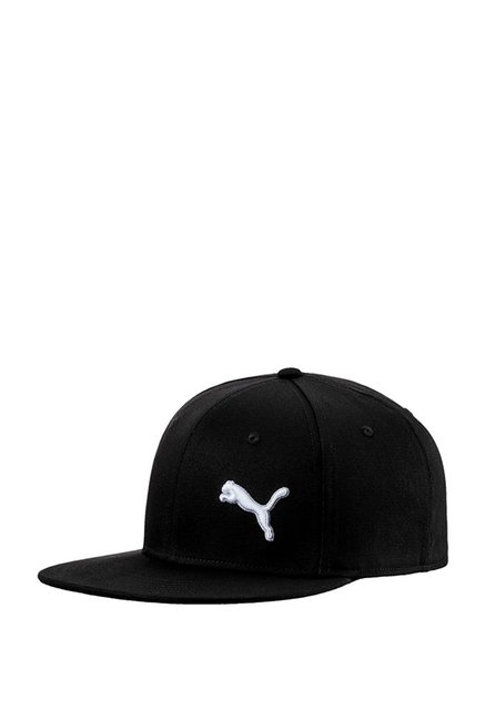 Buy Puma Stretchfit Black Solid Cotton Baseball Cap Online At Best ... 58274542818