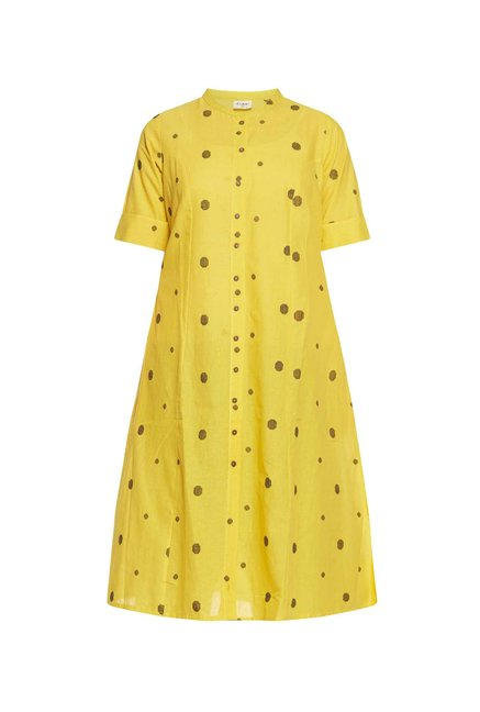 Diza curve by Westside Yellow Dotted Kurta