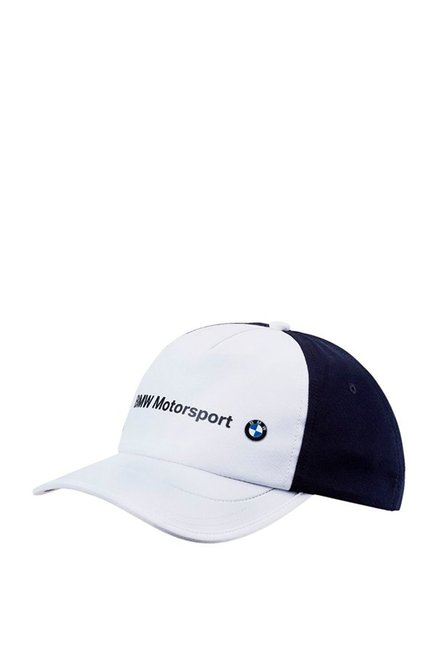 Buy Puma BMW Motorsport White   Navy Printed Baseball Cap Online At Best  Price   Tata CLiQ 03df73cec0f