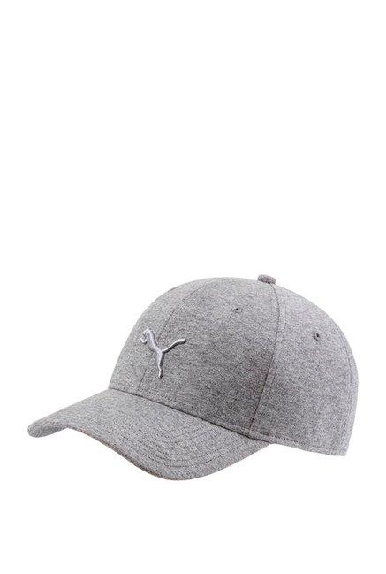 a790a5aa Buy Puma Stretchfit Grey Heather Solid Cotton Gus Cap Online At Best Price  @ Tata CLiQ