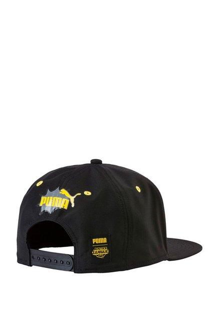 Buy Puma Justice League Batman Black   Grey Printed Summer Cap ... dab4cc2cbca
