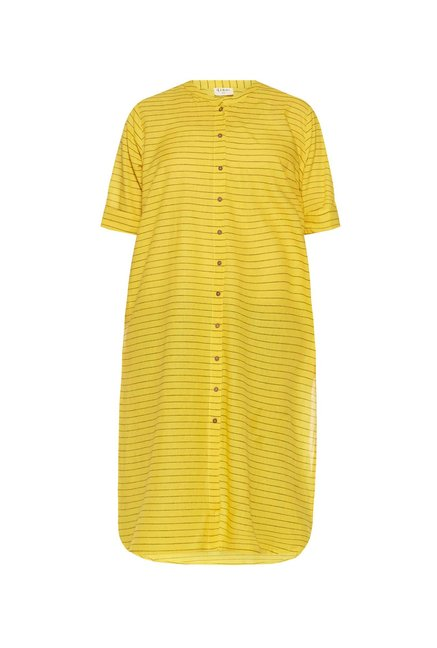 Diza curve by Westside Yellow Striped Kurta