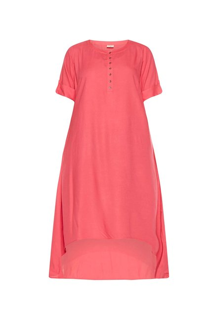 Diza curve by Westside Pink High-Low Kurta