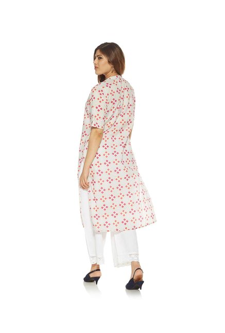 Diza curve by Westside Pink Diamond Print Kurta