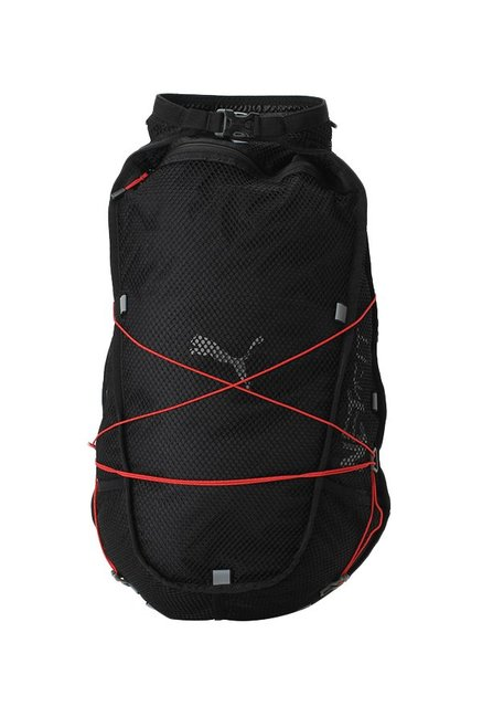 dc6fbc07ec Buy Puma PR Net Fit Black Textured Polyester Backpack Online At Best Price    Tata CLiQ