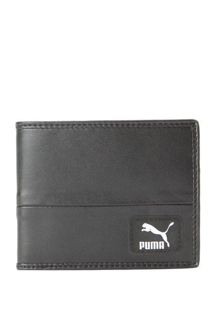 Puma Originals Black Solid Bi-Fold Wallet