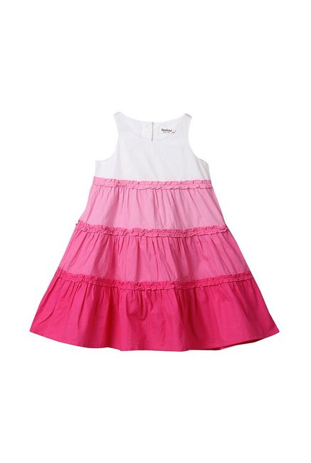ded6a34e22 Buy Beebay Pink Ombre Dress for Girls Clothing Online @ Tata CLiQ