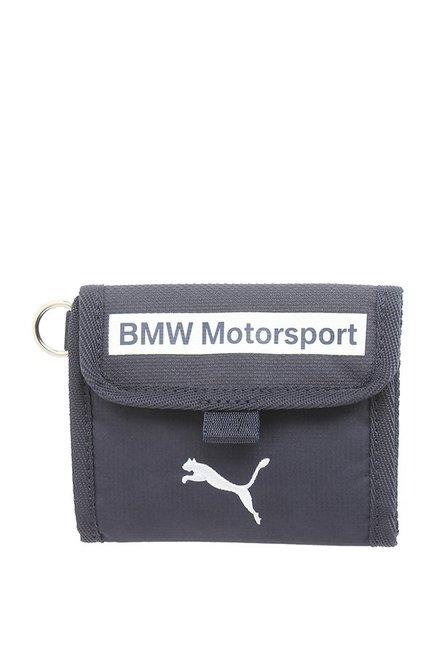 8d599d29ab Buy Puma BMW Motorsport Blue Textured Tri-Fold Wallet Online At Best Price    Tata CLiQ