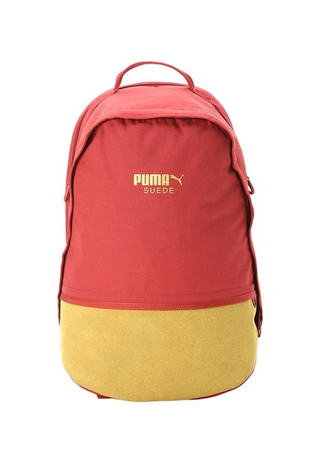 Buy Puma Red Dahlia   Mango Yellow Color Block Laptop Backpack Online At Best  Price   Tata CLiQ 7f7351c3a53bc