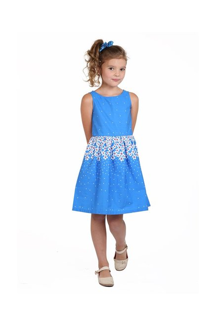 98368670c2224 Buy Beebay Blue Printed Dress for Infant Girls Clothing Online @ Tata ...