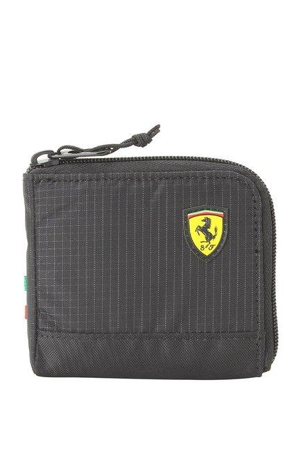 Buy Puma SF Fanwear Black Chequered Nylon Wallet Online At Best Price    Tata CLiQ 377d9e30331f5