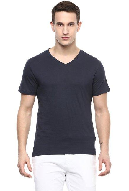 celio* Navy Short Sleeves Regular Fit Cotton T-shirt