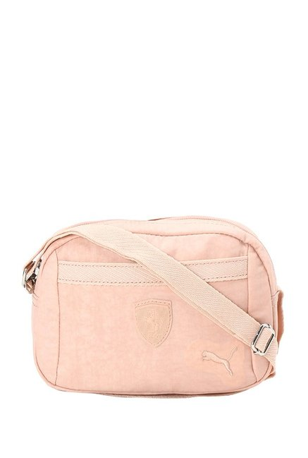 Buy Puma Ferrari LS Peach Solid Polyester Sling Bag For Women At Best Price    Tata CLiQ 657905caa6c61