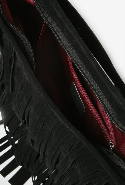 f99012077b Buy LOV by Westside Black Alia Hobo Bag for Women Online   Tata CLiQ
