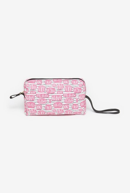 Westside Pink Bubbles Cosmetics Pouch