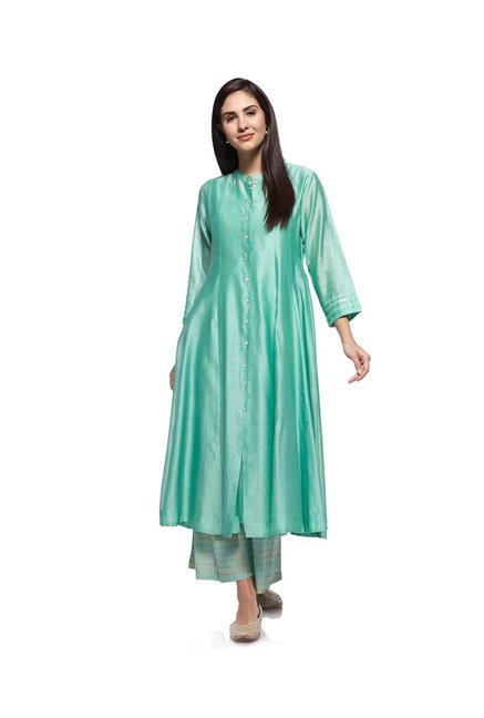 Zuba by Westside Mint Melange Kurta with Chemise