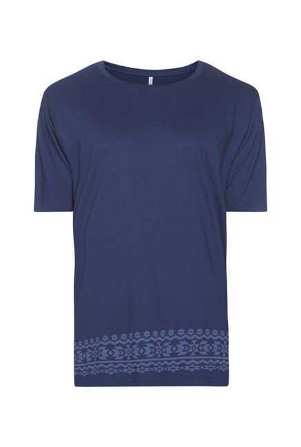 ETA by Westside Indigo Slim Fit Pure Cotton T-Shirt
