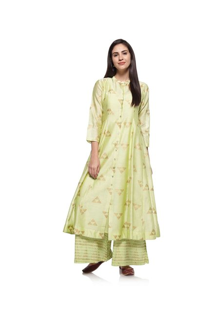 Zuba by Westside Lime Kurta with Chemise