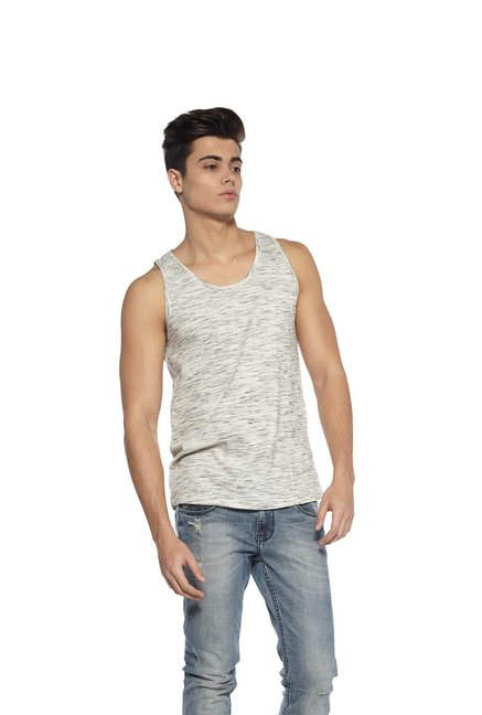 2c2776e497 Buy Zudio Grey Slim Fit Vest for Men Online   Tata CLiQ