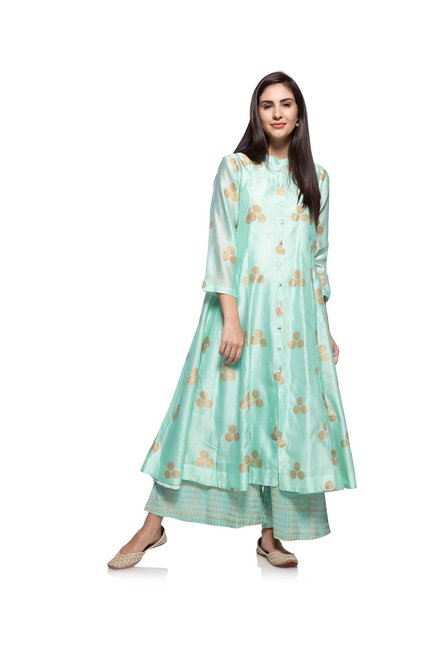 Zuba by Westside Sky Blue Kurta with Chemise