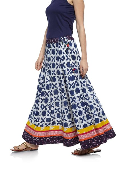 Zudio Navy Slim Fit Ethnic Skirt
