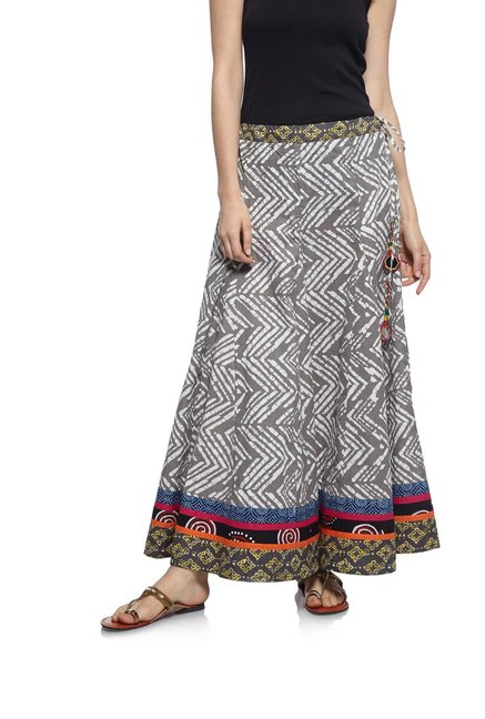 a66eaa12a Buy Zudio Grey Slim Fit Ethnic Skirt for Women Online @ Tata CLiQ