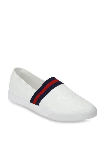 Buy Red Tape White \u0026 Red Slip-Ons for