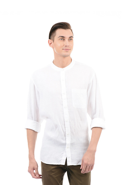 08a199564e226e Buy Izod White Band Collar Shirt for Men Online @ Tata CLiQ