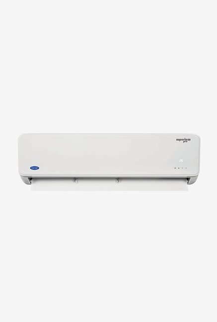 Carrier 1.0 Ton Inverter 3 Star (BEE rating 2018) SUPERIA PRO HYBRID CAI12SU3C8F0 Split AC (White)