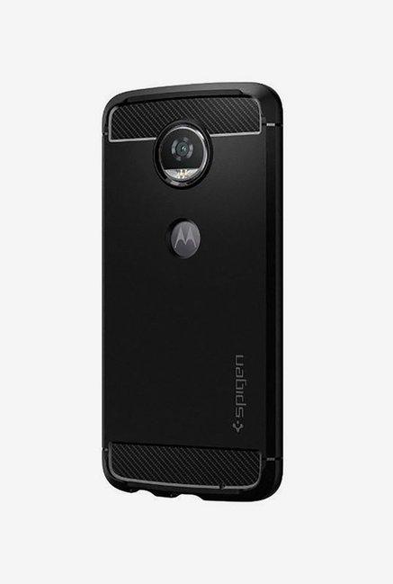 77d680fbcad3 Buy Spigen Armor Back Case Cover for Motorola Moto Z2 Play (Black) Online  At Best Price   Tata CLiQ