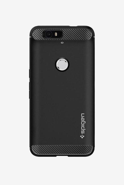buy popular 4c0cb 986f0 Buy Spigen Armor Back Case Cover for Google Nexus 6P (Black) Online ...