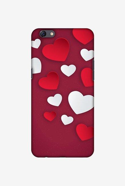 Buy Amzer Red & White Hearts Designer Case for Oppo F3