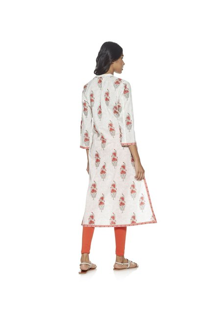 Utsa by Westside White Floral Printed Kurta