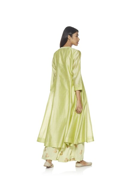 Zuba by Westside Lime Melange Kurta with Chemise