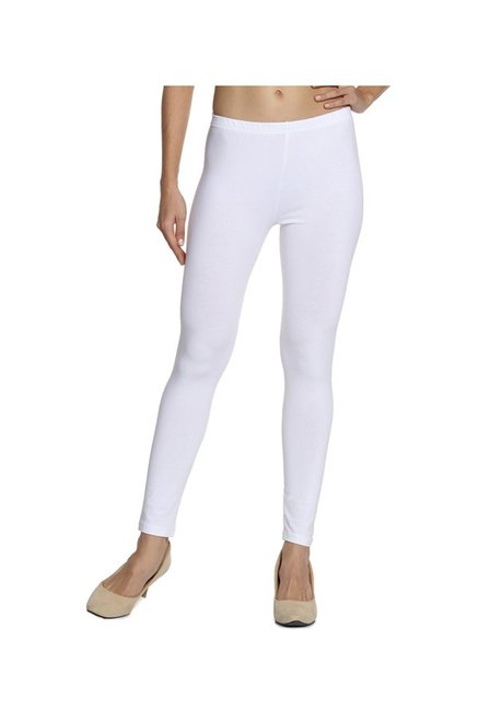 Soch White Regular Fit Cotton Lycra Churidar