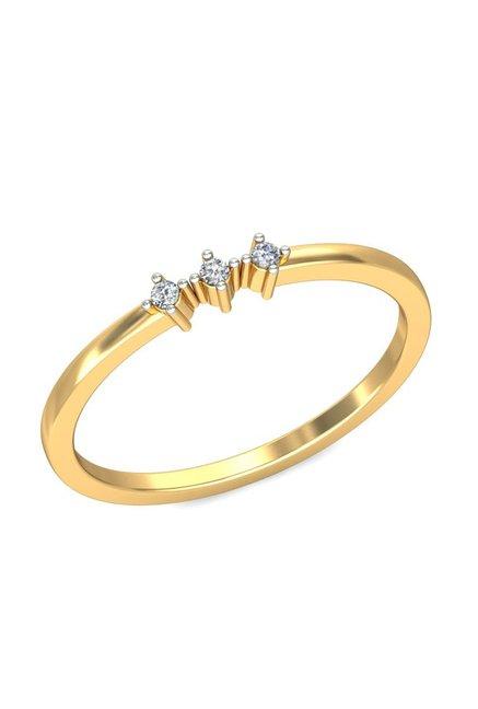 P.N.Gadgil Jewellers Enigmatic 18k Gold & 0.0375 ct Diamond Ring