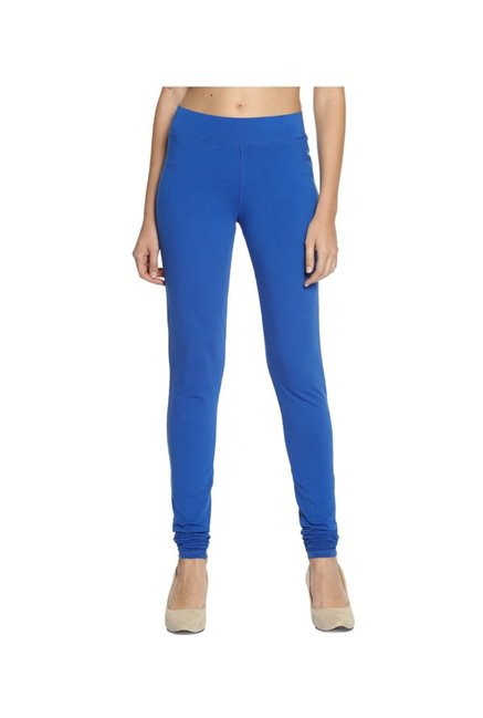 Soch Royal Blue Regular Fit Cotton Lycra Churidar