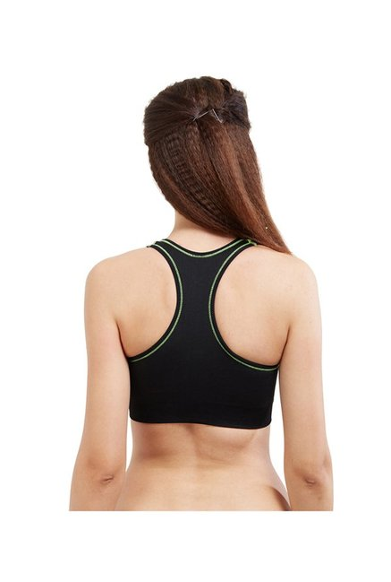 Blush by PrettySecrets Black Cross Back Sports Bra