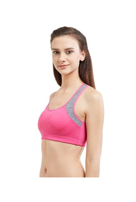Blush by PrettySecrets Pink Cross Back Sports Bra