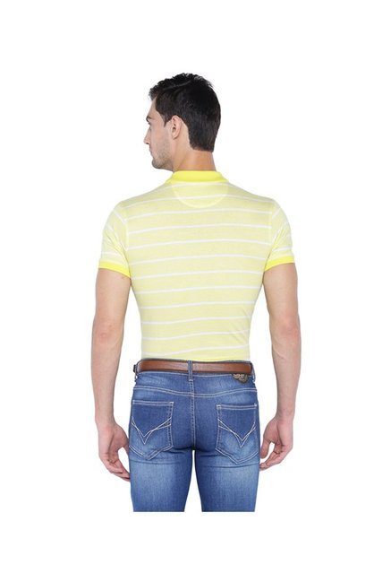 Solly By Allen Solly Yellow Regular Fit Polo T-Shirt