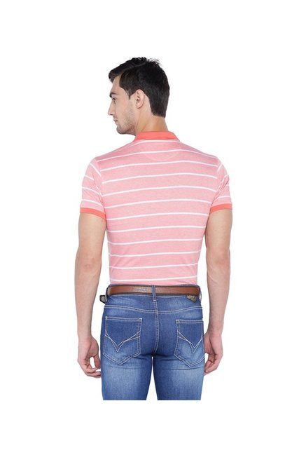 Solly By Allen Solly Pink Regular Fit Polo T-Shirt