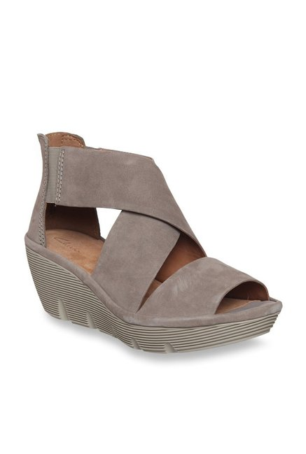 3ad53d96641 Buy Clarks Clarene Glamor Sage Cross Strap Wedges for Women at Best Price    Tata CLiQ