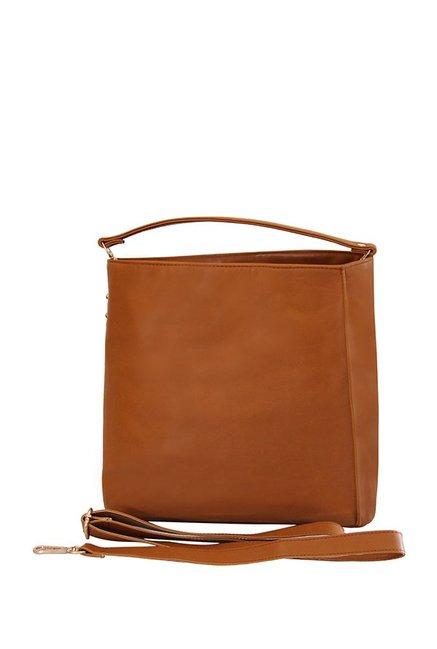 Mohawk Classic Tan Solid Shoulder Bag