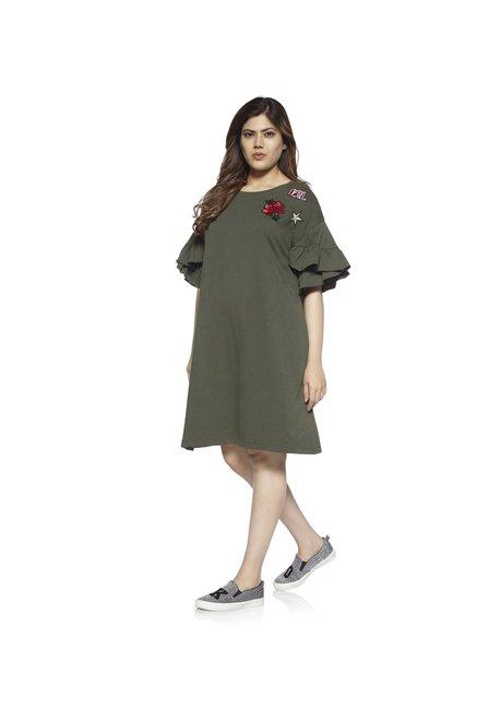 3bf79201fcd4 Buy Sassy Soda by Westside Khaki Torry Dress For Women Online At Tata CLiQ
