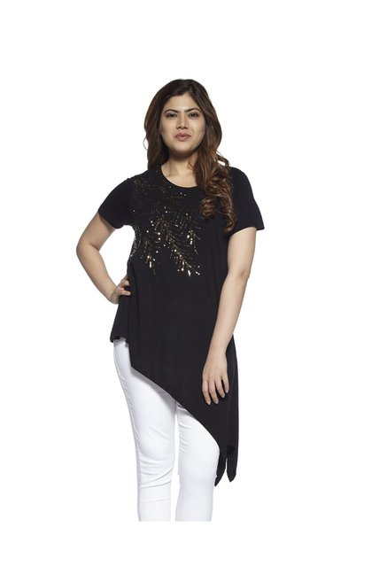 9b99d3909 Buy Gia by Westside Black Bree Top For Women Online At Tata CLiQ