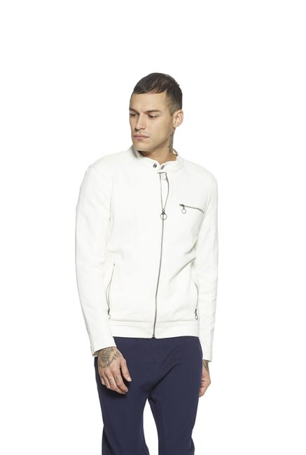 4e714ba1 Buy Nuon by Westside White Slim Fit Jacket For Men Online At Tata ...