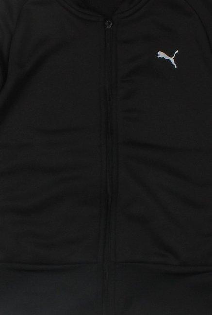7f0378fc34eb Buy Puma Black Solid Jacket for Girls Clothing Online   Tata CLiQ