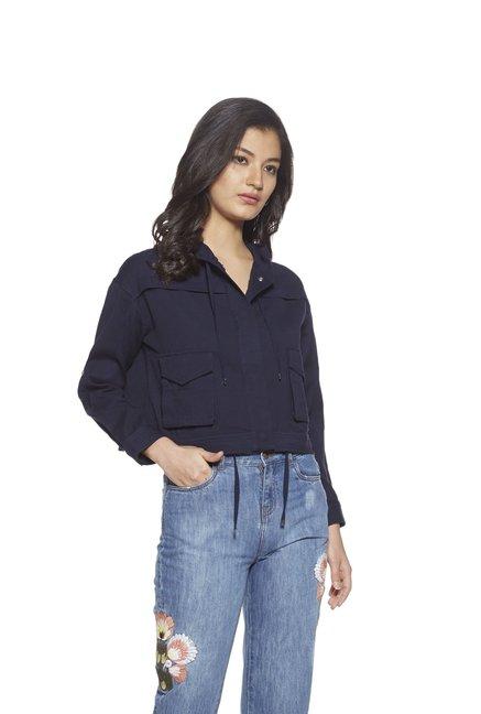 e2f43794e Buy Nuon by Westside Navy Bersh Cropped Jacket for Women Online ...