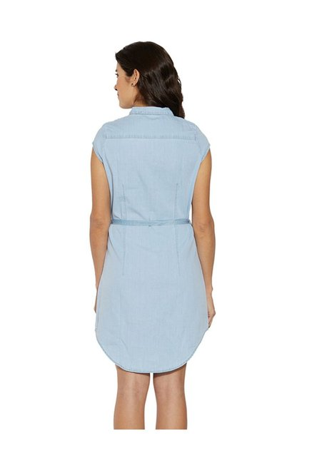 Kraus Light Blue Above Knee Dress