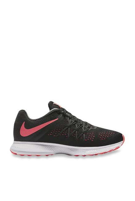 7697fb5e9ae1 Buy Nike Zoom Winflo 3 Black Running Shoes for Women at Best Price   Tata  CLiQ